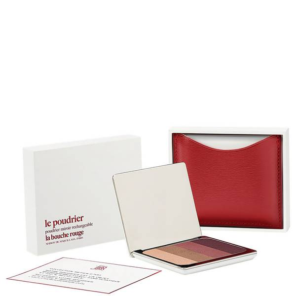 La Bouche Rouge Paris Red Fine Leather Chilwa Eye Shadow Set