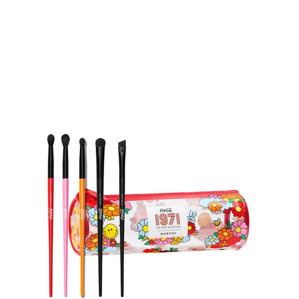 Morphe Morphe X Coca-Cola Sweep The Peace 5-Piece Brush Set + Bag