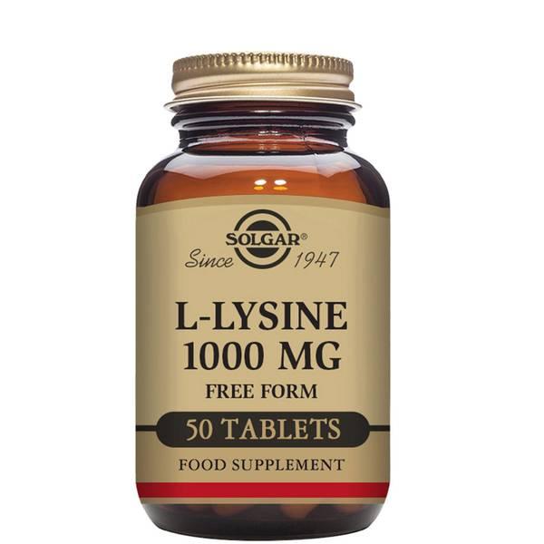 Solgar L-Lysine 1000mg Tablets