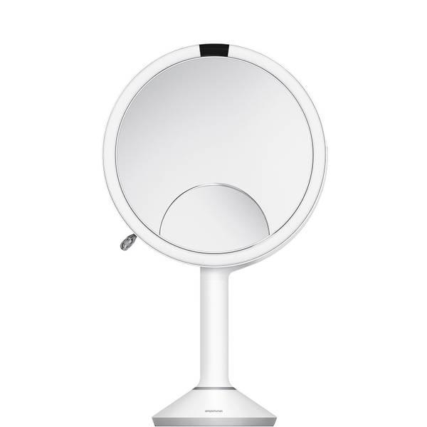 simplehuman Sensor Mirror Trio 20cm Round White Stainless Steel