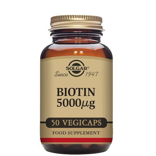 Solgar Biotin 5000µg Vegetable Capsules