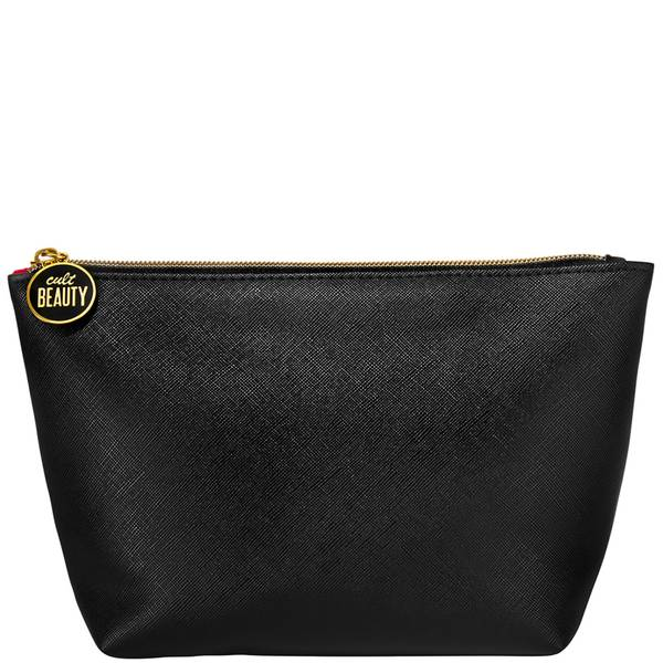 Cult Beauty Black Faux Leather Make Up Bag