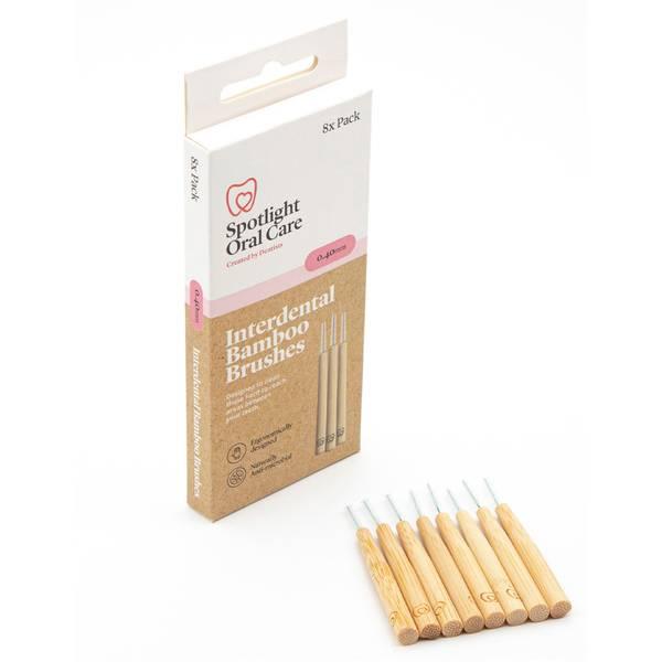 Spotlight Oral Care Interdental Bamboo Brushes 0.4 Interdental Bamboo Brushes