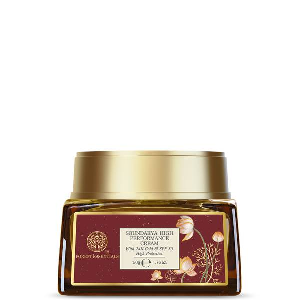 Forest Essentials Soundarya High Performance Cream with 24 Karat Gold and SPF30 (Various Sizes)