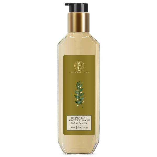 Forest Essentials Hydrating Shower Wash Oudh and Green Tea (Various Sizes)