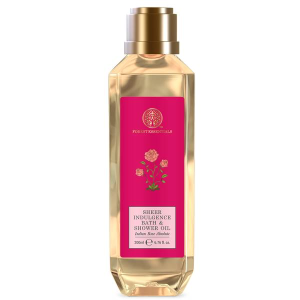 Forest Essentials Sheer Indulgence Bath and Shower Oil Indian Rose Absolute (Various Sizes)