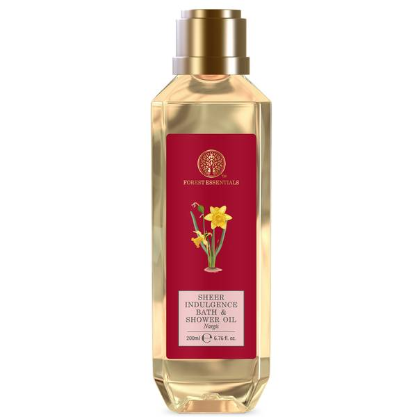 Forest Essentials Sheer Indulgence Bath and Shower Oil Nargis (Various Sizes)