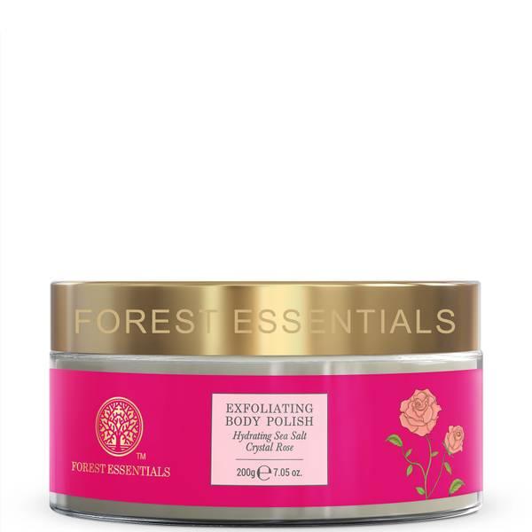 Forest Essentials Exfoliating Body Polish - Sea Salt Crystal Rose 200g