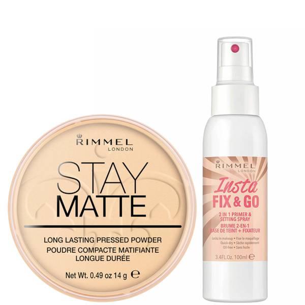 Rimmel Stay Matte Pressed Powder and Setting Spray Bundle