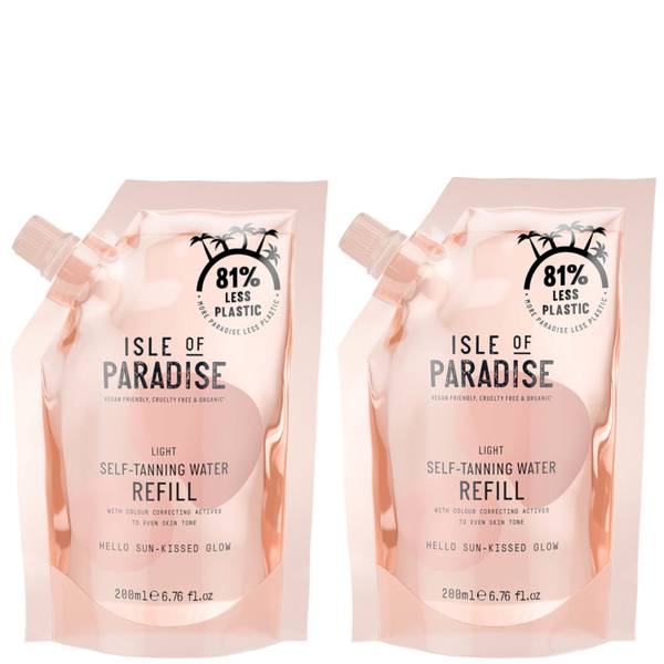 Isle of Paradise Light Self-Tanning Water Refill Duo