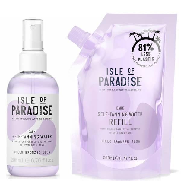 Isle of Paradise Dark Self-Tanning Water and Refill Bundle