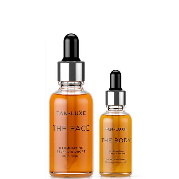 Tan-Luxe Travel Size The Face and The Body Bundle - Light-Medium