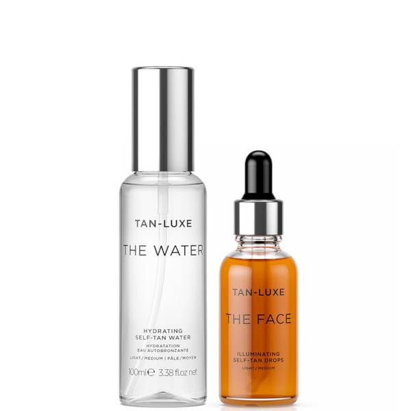 Tan-Luxe Travel Size The Face and The Water Bundle - Light-Medium
