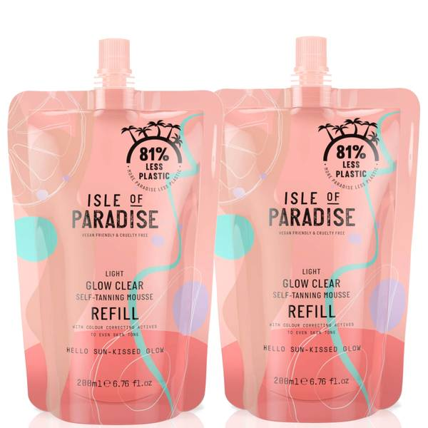 Isle of Paradise Light Glow Clear Mousse Refill Duo