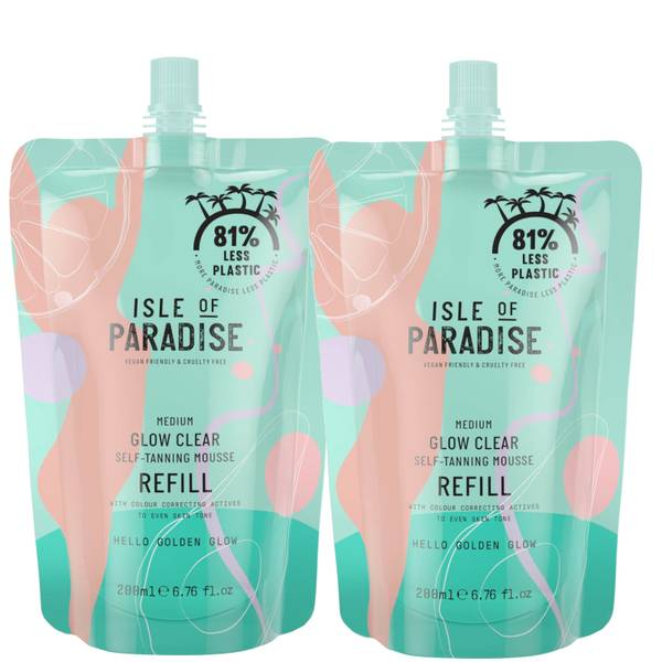 Isle of Paradise Medium Glow Clear Mousse Refill Duo