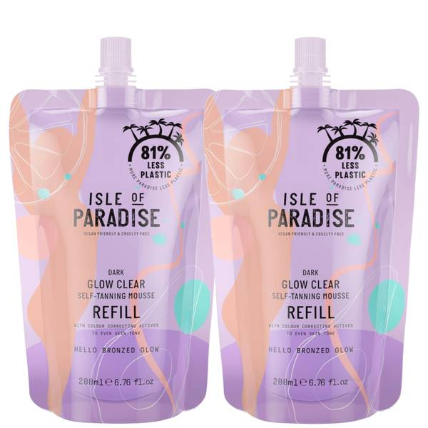 Isle of Paradise Dark Glow Clear Mousse Refill Duo