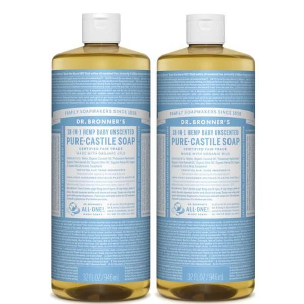 Dr. Bronner's Baby Mild Pure-Castile Liquid Soap Duo
