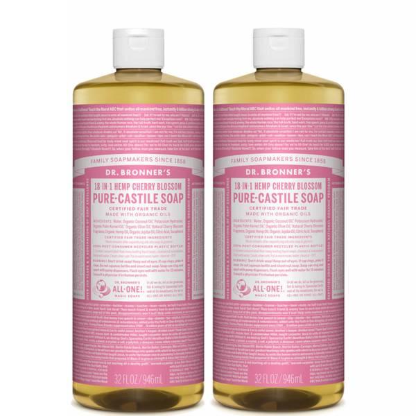 Dr. Bronner's Cherry Blossom Pure-Castile Liquid Soap Duo