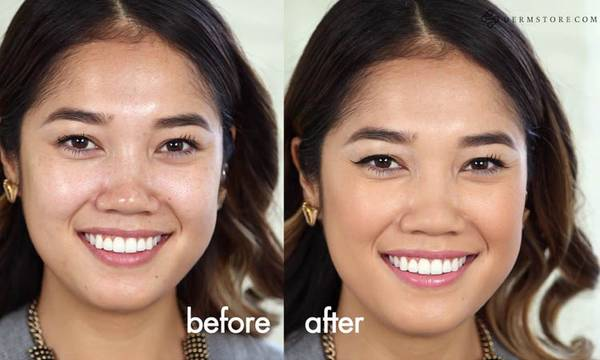 Dermablend Before and After: Liquid Camo Application