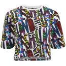 House of Holland Women's Cropped Print T-Shirt - House of Holland Logo - Multi