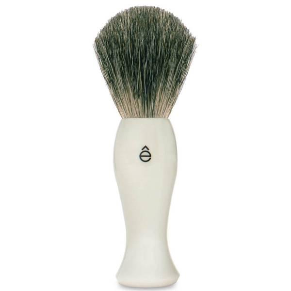 eShave 長款剃鬚刷塑料手柄(白色)