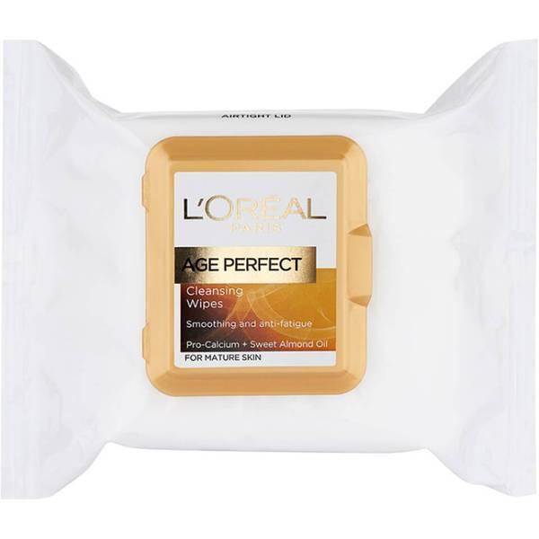로레알 파리 에이지 퍼펙트 클렌징 티슈 포 마추어 스킨 (L'OREAL PARIS AGE PERFECT CLEANSING WIPES FOR MATURE SKIN) (25 매)
