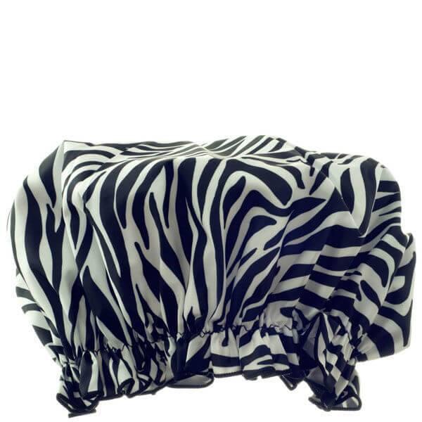 Hydrea London Eco Friendly Shower Cap – Zebra