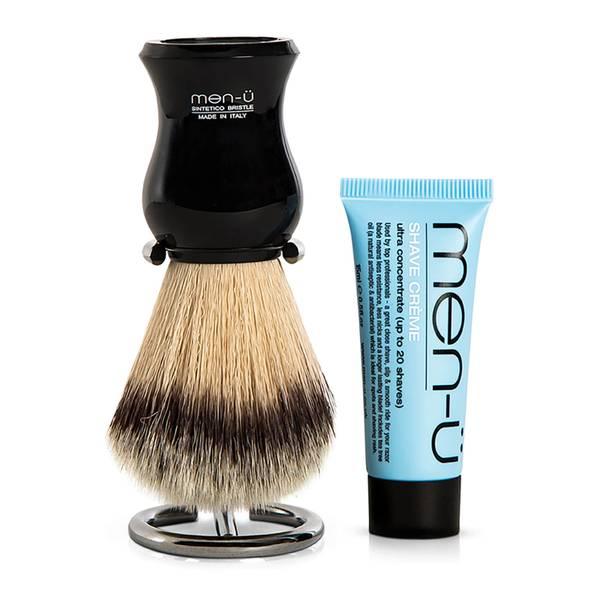 men-ü DB Premier Shave Brush with Chrome Stand – Black