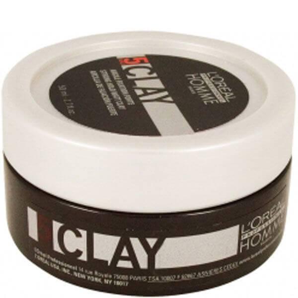 L'Oréal Professionnel Homme Clay mocno utrwalająca glinka do układania włosów (50 ml)