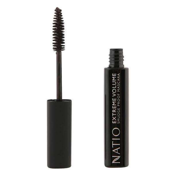 Natio Extreme Volume Smudge Proof Mascara - Brown/Black (10ml)