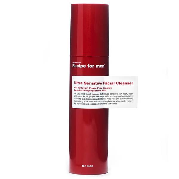 Гель для умывания для чувствительной кожи, мужская линия Recipe for Men— Ultra Sensitive Facial Cleanser 100мл