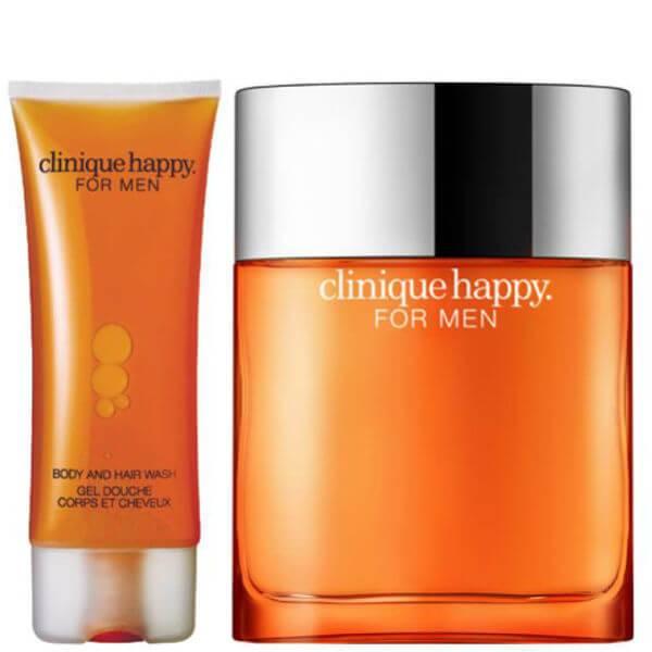 Clinique For Men Happy Duo (50 ml Spray, Hair & Body Wash)