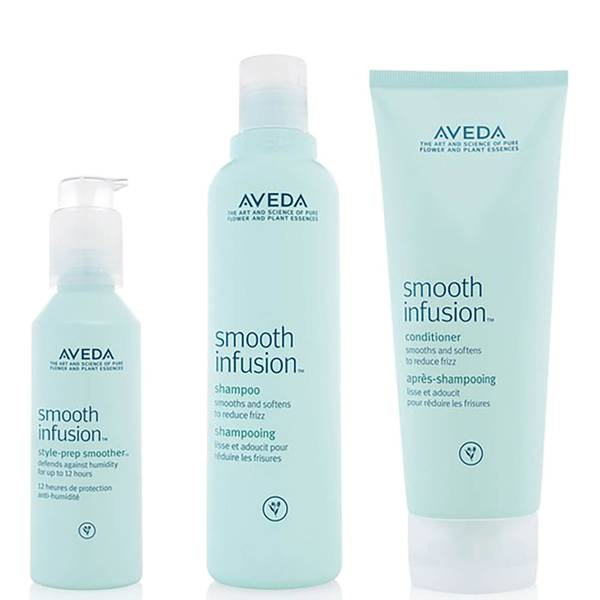 Aveda glättendes Haarpflege Trio Smooth Infusion Shampoo, Conditioner & Style Prep Smoother