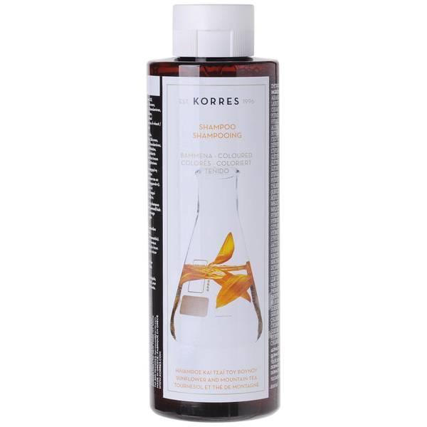 KORRES Natural Sunflower and Mountain Tea Shampoo for Coloured Hair 250ml