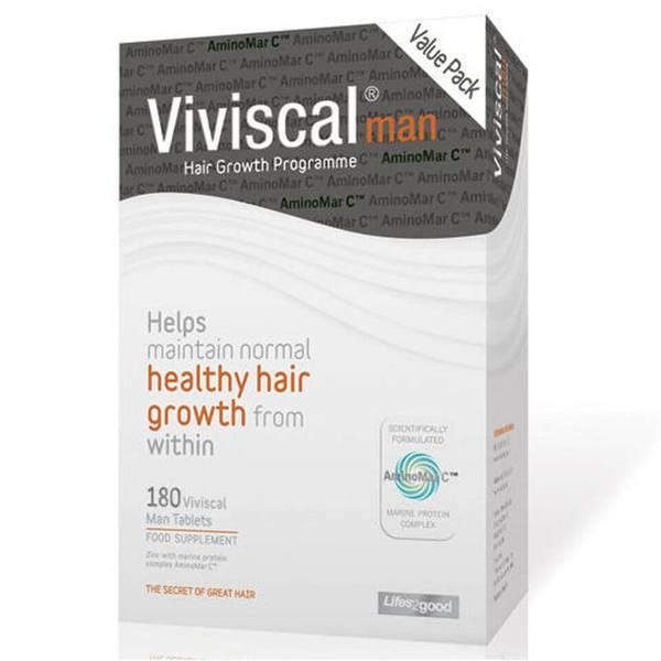 Viviscal Man 3 Month Supply(비비스칼 맨 3개월 분, 180정)