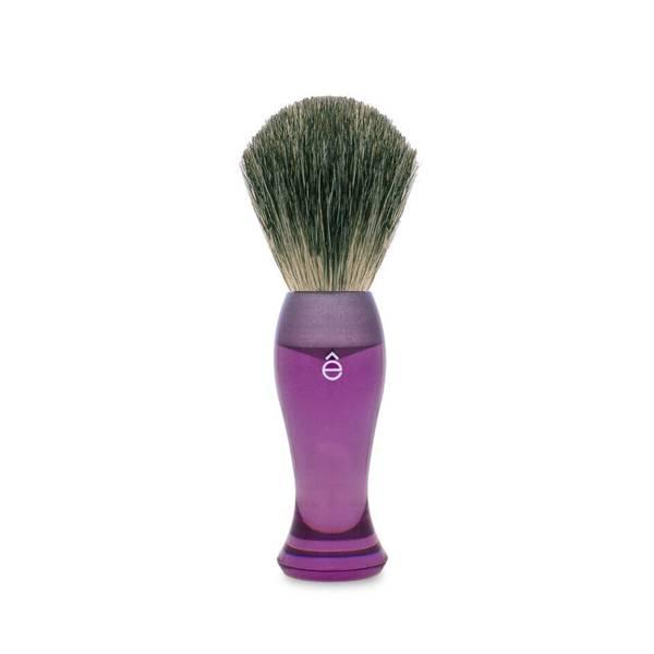 eShave 頂級獾毛長柄剃鬚刷 - 紫色