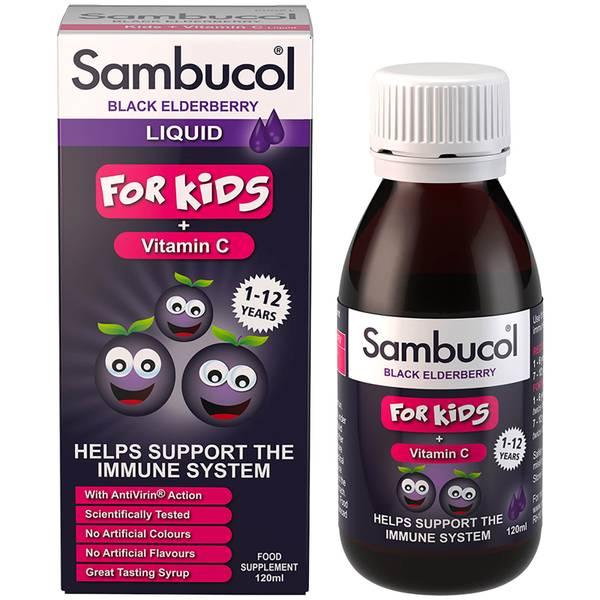 Witaminy dla dzieci Sambucol Kids Formula (120 ml) – bezsmakowe