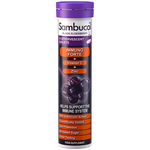Suplement diety Sambucol Effervescent Immuno Forte (15 tabl.)