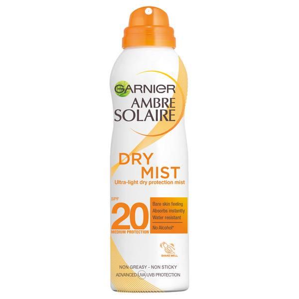 Ambre Solaire Dry Mist Fast Absorbing Sun Cream Spray SPF20 200ml