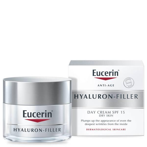 Creme de Dia para Pele Seca FPS 15+ e Proteção UVA com Ácido Hialurónico Anti-Age da Eucerin® (50 ml)