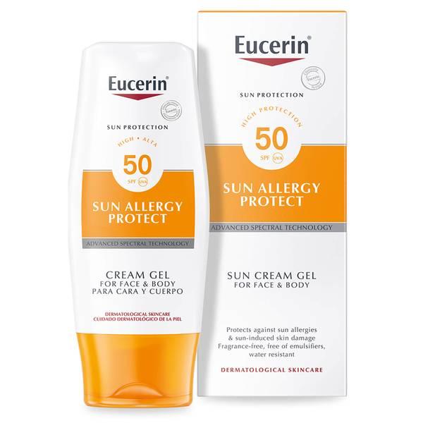 Creme em Gel Sun Protection, para proteção contra as alergias do sol da Eucerin® com fator de proteção 50 elevado(150 ml)