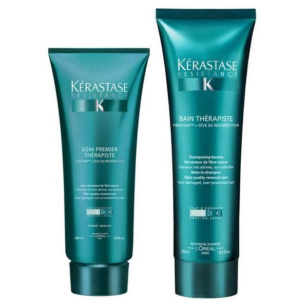 Kérastase Resistance Therapiste Bain -shampoo (250ml) ja hoitoaine (200ml)