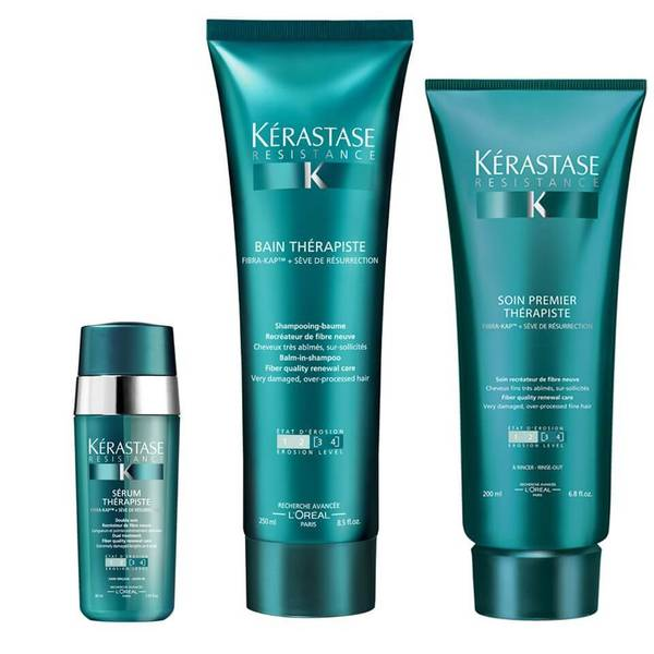 KérastaseRésistance Thérapiste trio Shampoo, Balsamo e Siero
