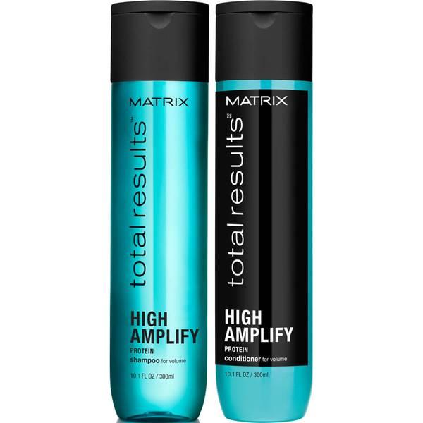 Shampoo (300 ml), Condicionador (300 ml) e Volumizador de Raízes (250 ml) High Amplify da Matrix Total Results