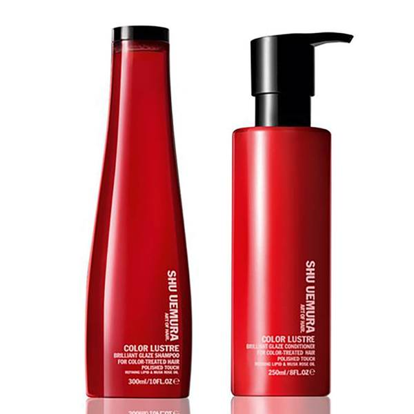 Shu Uemura Art of Hair Color Lustre Sulfatfreies Shampoo (300ml) und Spülung (250ml)