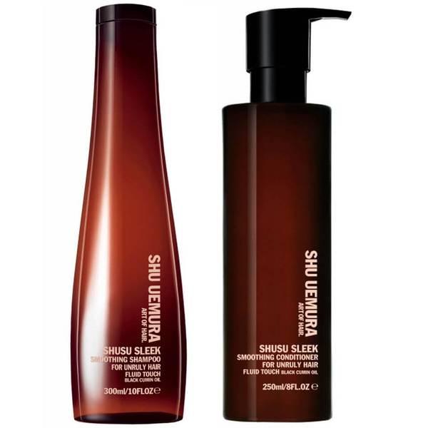 Shu Uemura Art of Hair Shusu Sleek Shampoo (300ml) und Spülung (250ml)