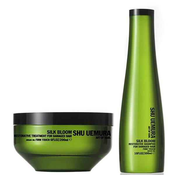 Shu Uemura Art of Hair Silk Bloom Shampoo (300ml) und Behandlung (200ml)