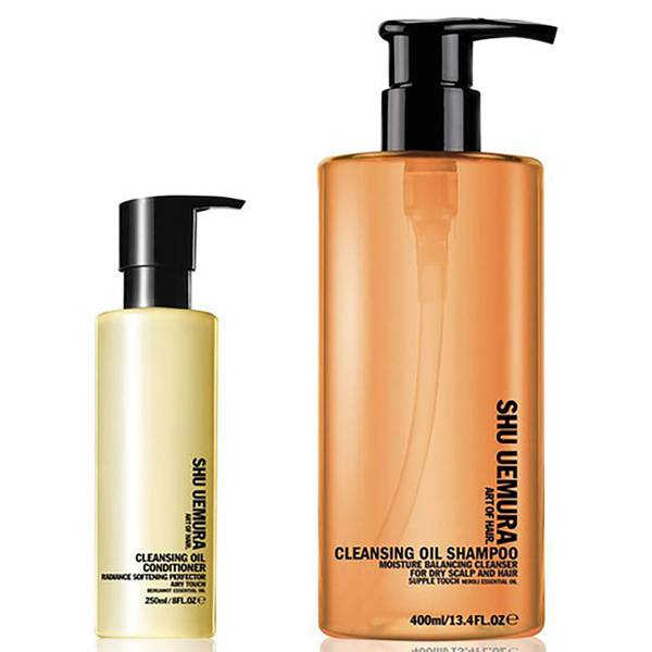 Shu Uemura Art of Hair Cleansing Oil Shampoo for Dry Scalp (400 ml) and Conditioner (250 ml)