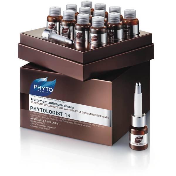 Phyto Phytologist 15 Anti-Hair Loss Treatment -hiustenlähtöä ehkäisevä hoitoseerumi (12 x 3,5ml)