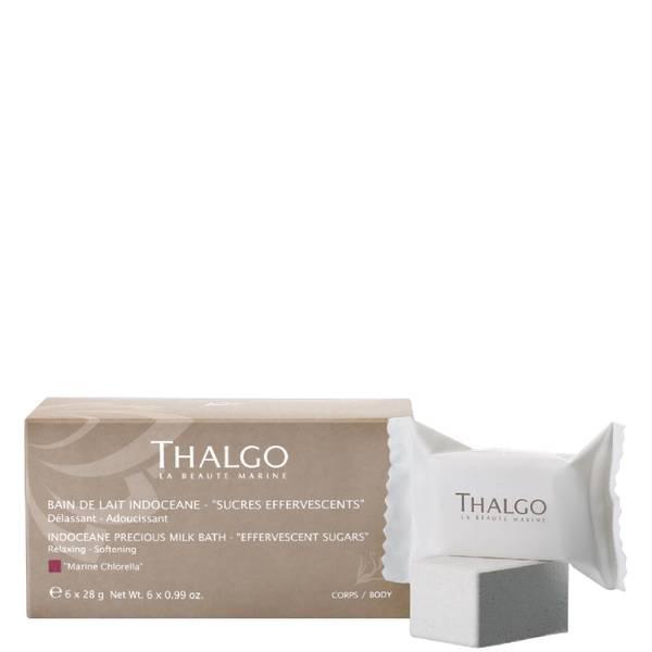 Шипучий сахарный порошок для создания молочной ванны Thalgo Indocéane Precious Milk Bath Soak 6шт.x28г